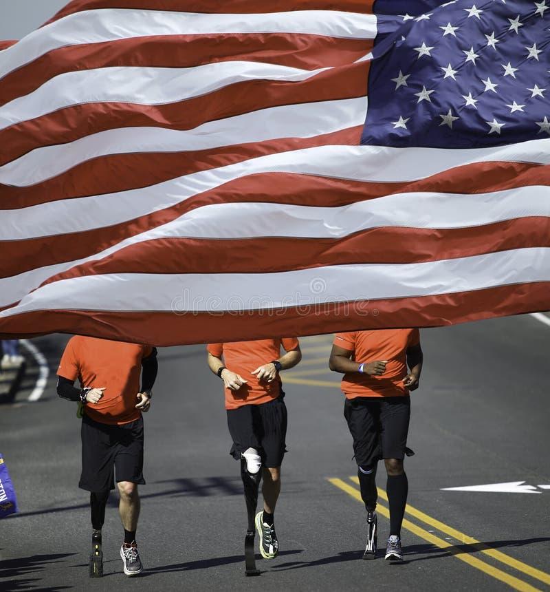 Marathoniens handicapés photo stock