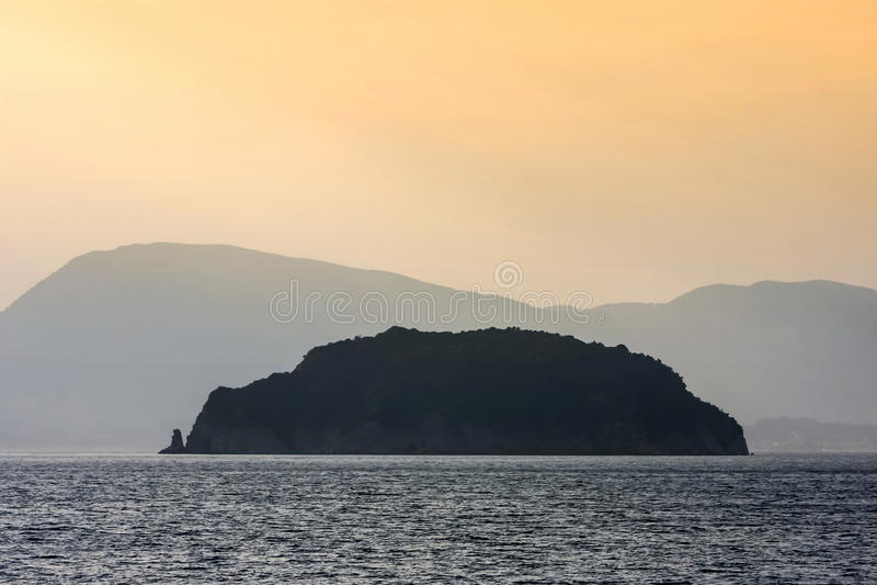 Marathonisi island in Greece stock photos