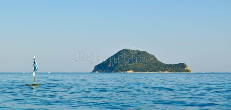 Marathonisi island, Greece. royalty free stock photography
