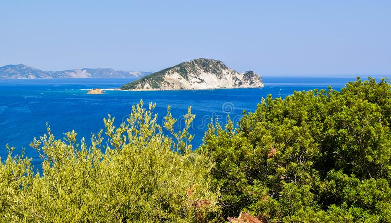 Marathonisi island, Greece. royalty free stock photos