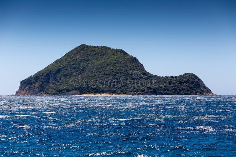 Marathonisi Island near Zakynthos royalty free stock photography