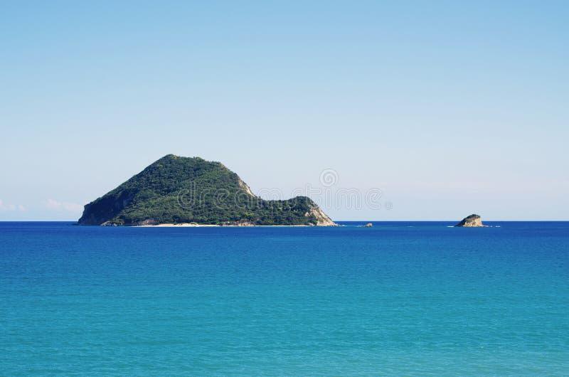 Marathonisi island on Zakynthos, Greece royalty free stock photos