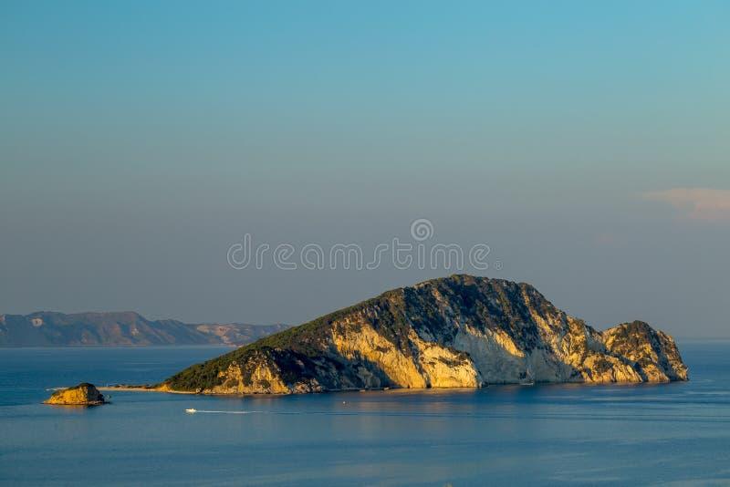 Marathonisi Island on Zakynthos royalty free stock photography