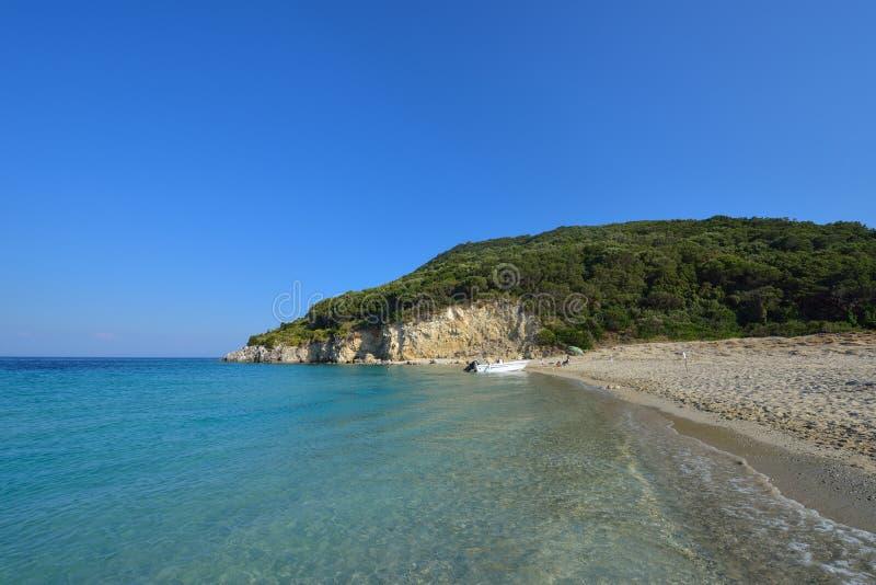Marathonisi the turtle island , Zakynthos royalty free stock photography