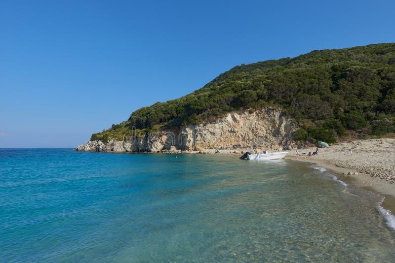 Marathonisi the turtle island , Zakynthos stock images