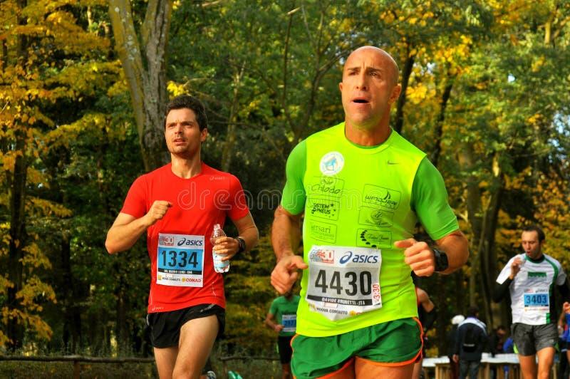 Marathonläufer in Florenz, Italien stockfotografie