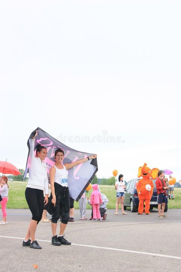 Marathonpubliek stock afbeelding