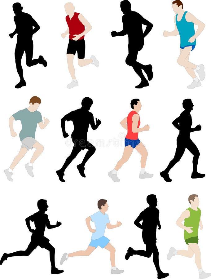 Marathonseitentriebe lizenzfreie abbildung