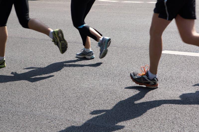 Maratońscy biegacze fotografia royalty free