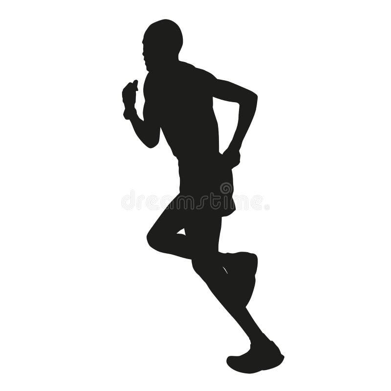 Maratońskiego biegacza sylwetka ilustracja wektor