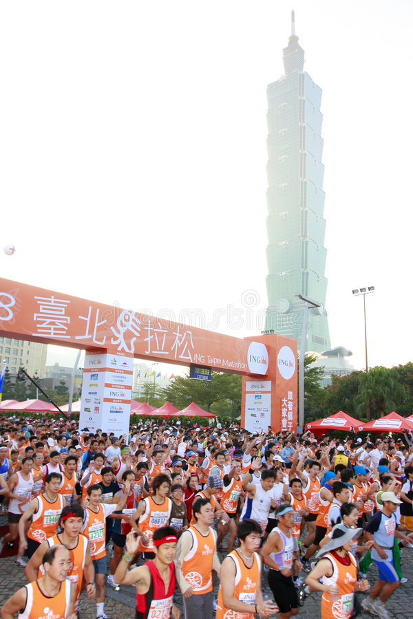 maraton arkivbild