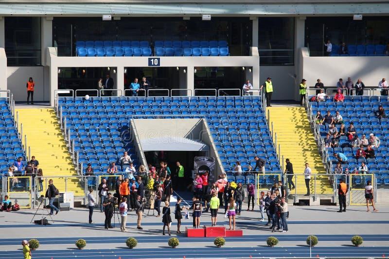 Maraton för PKO Silesia royaltyfria bilder