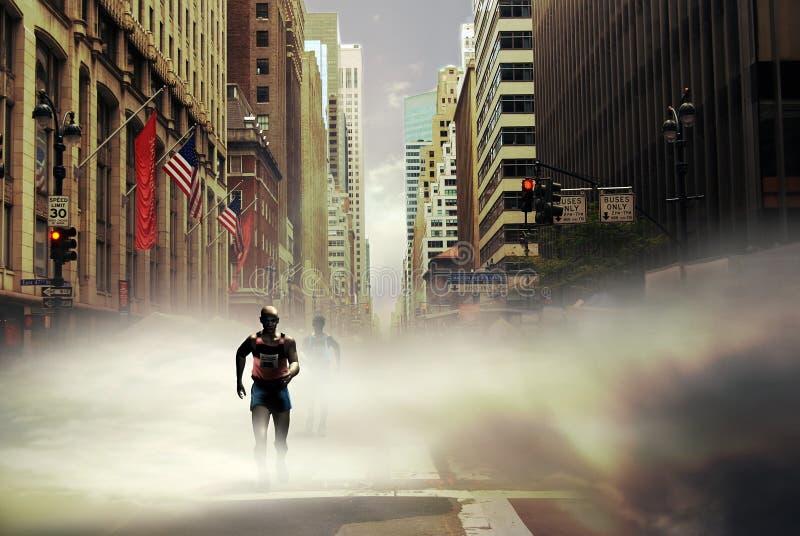 Maraton New York vektor illustrationer