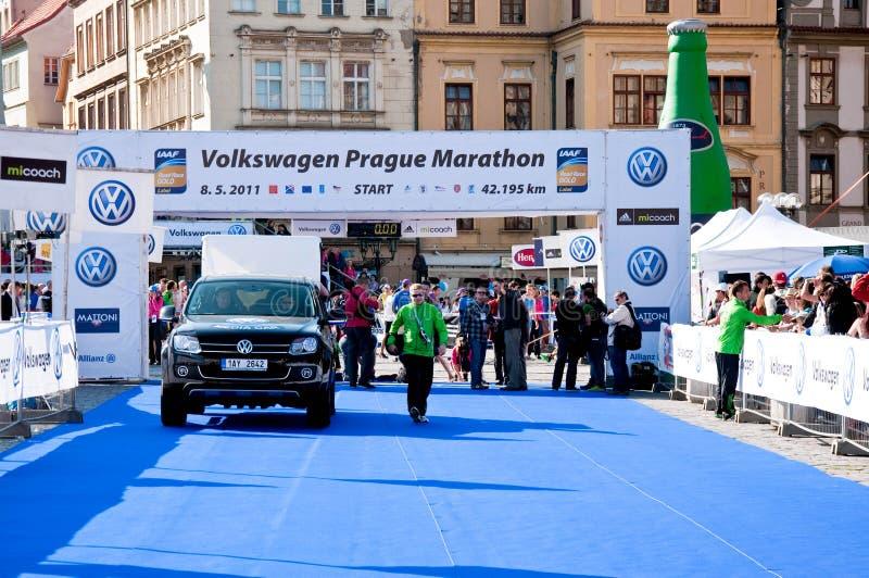maraton prague fotografering för bildbyråer