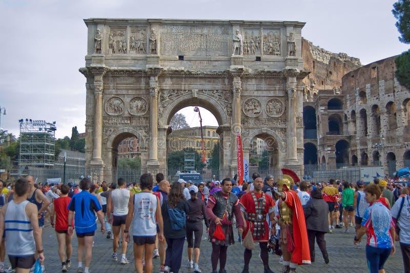 maraton Rome fotografia stock