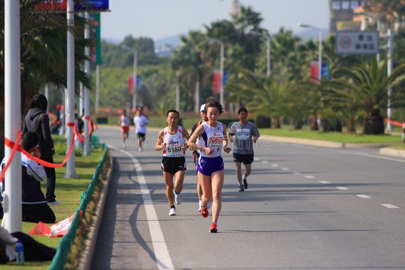 maraton xiamen royaltyfria foton