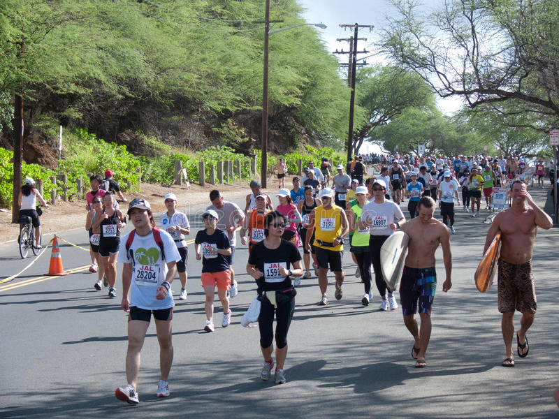 Maratona 1 di Honolulu immagini stock
