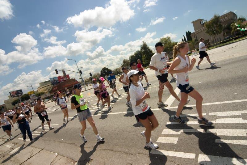 Maratona 1 di Los Angeles immagini stock libere da diritti