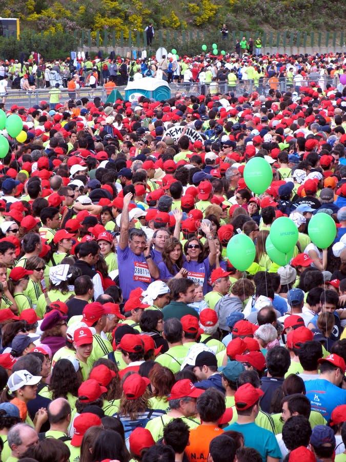 Maratona 2008 de Lisboa imagem de stock royalty free