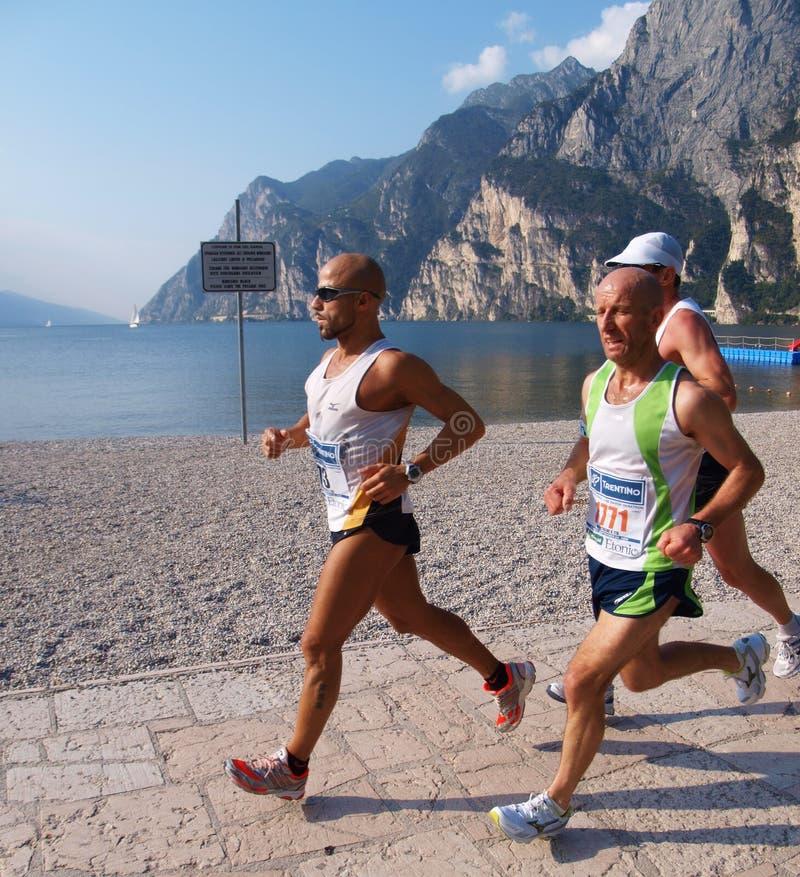 Maratona 2008 di Garda del lago fotografia stock