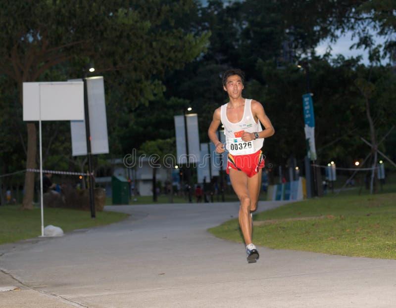 Maratona 2008 di Singapore fotografia stock