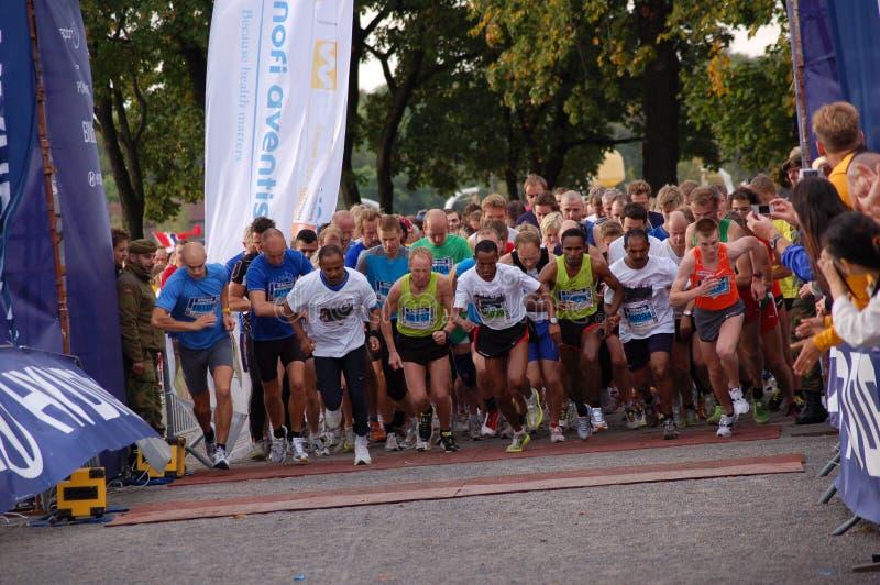 Maratona 2009 di Oslo fotografia stock