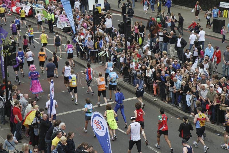 Maratona 2010 di Londra del Virgin da sopra fotografia stock