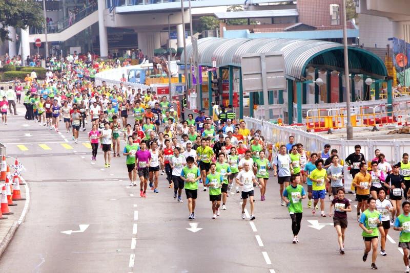 Maratona 2012 de Hong Kong foto de stock
