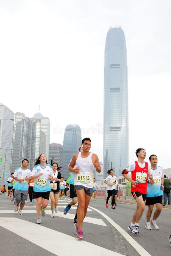 Maratona 2013 di Hong Kong immagini stock