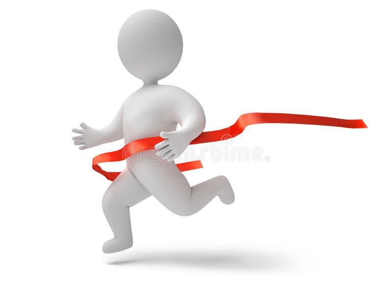 A maratona 3d rende ilustração do vetor