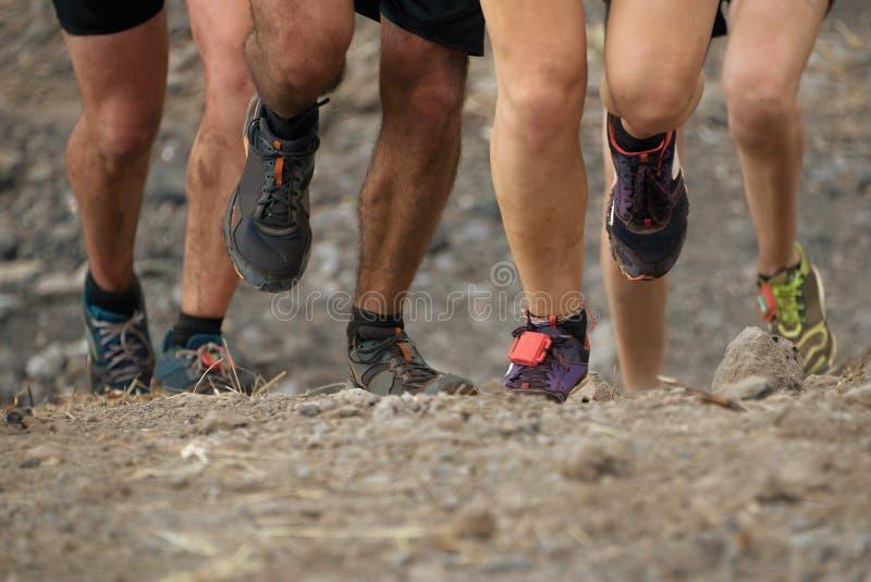 Maratona corrente della traccia fotografie stock libere da diritti