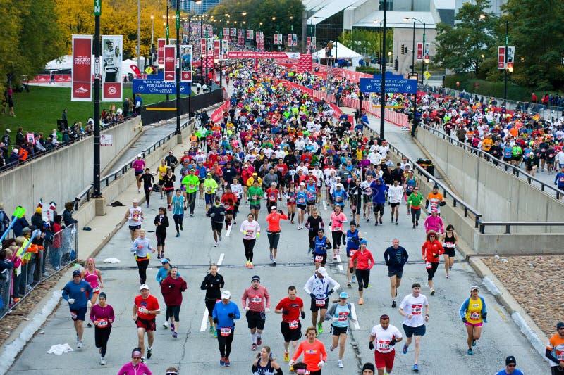 Maratona de Chicago imagens de stock royalty free