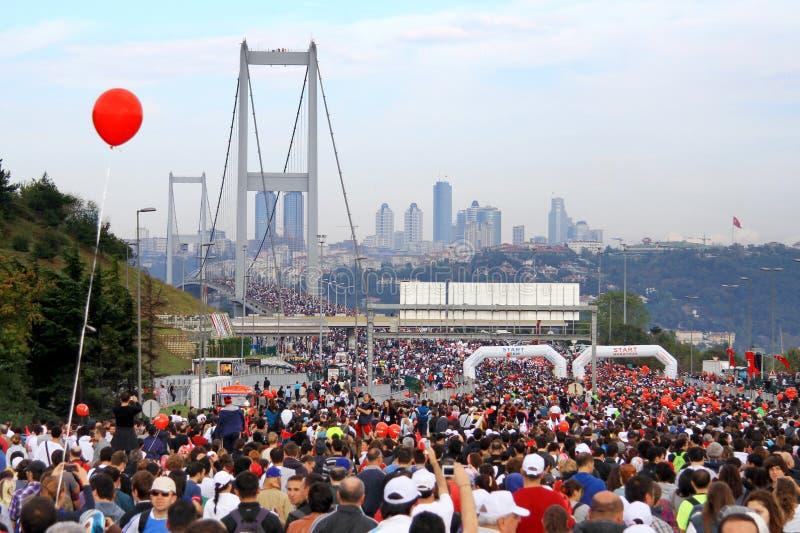 Maratona de Istambul Eurasia foto de stock