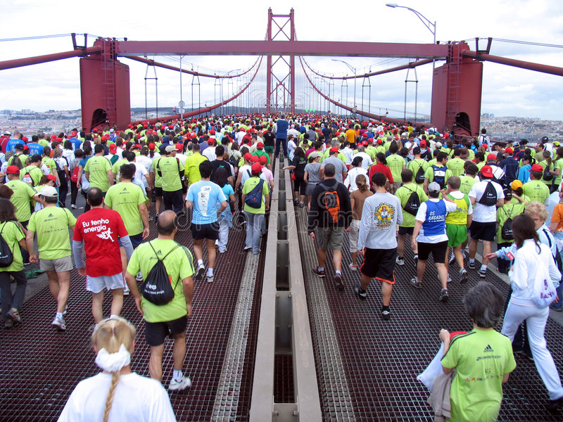 Maratona de Lisboa imagens de stock royalty free