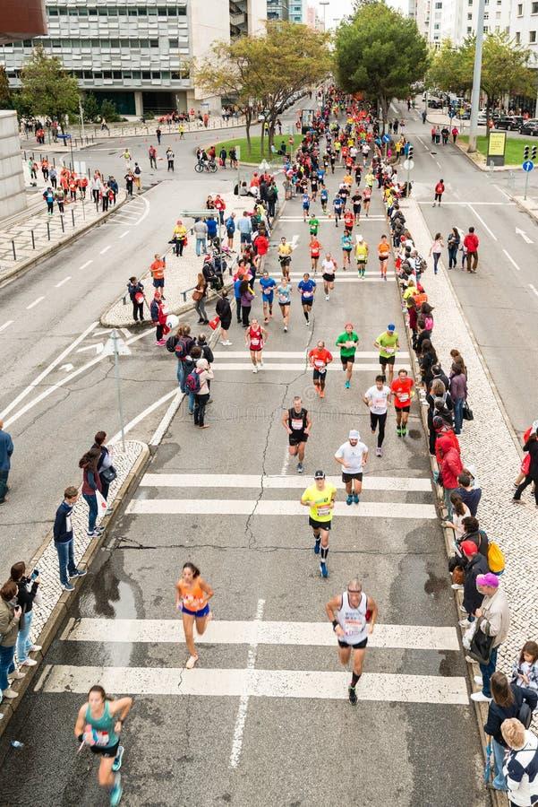 Maratona 2015 de Lisboa fotografia de stock royalty free