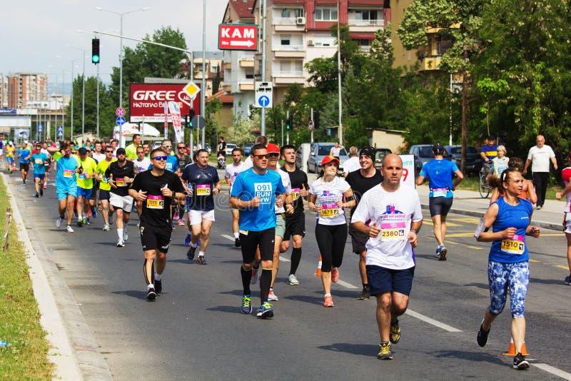 Maratona 2018 de Skopje imagem de stock