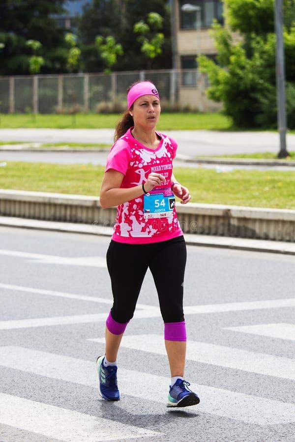 Maratona 2019 de Skopje fotos de stock royalty free