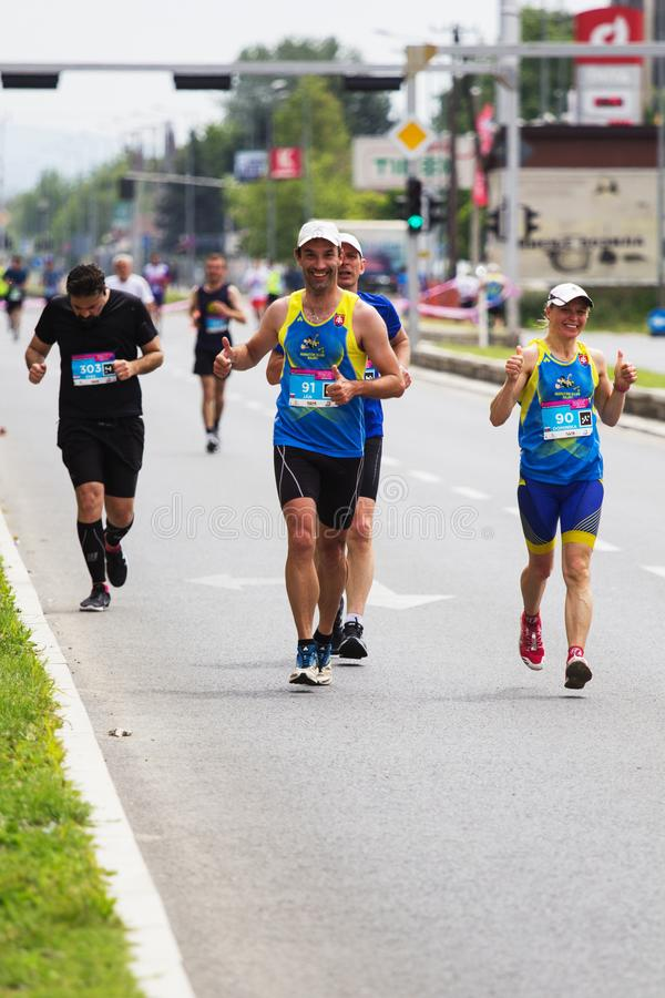 Maratona 2019 de Skopje fotos de stock
