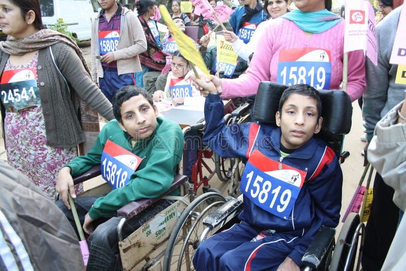 Maratona del halh di Delhi immagine stock
