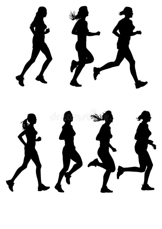 Maratona delle donne royalty illustrazione gratis