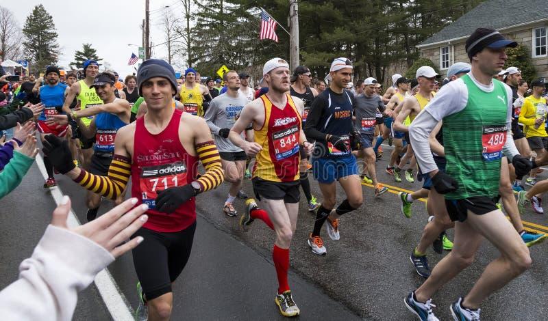 Maratona 2015 di Boston immagini stock libere da diritti