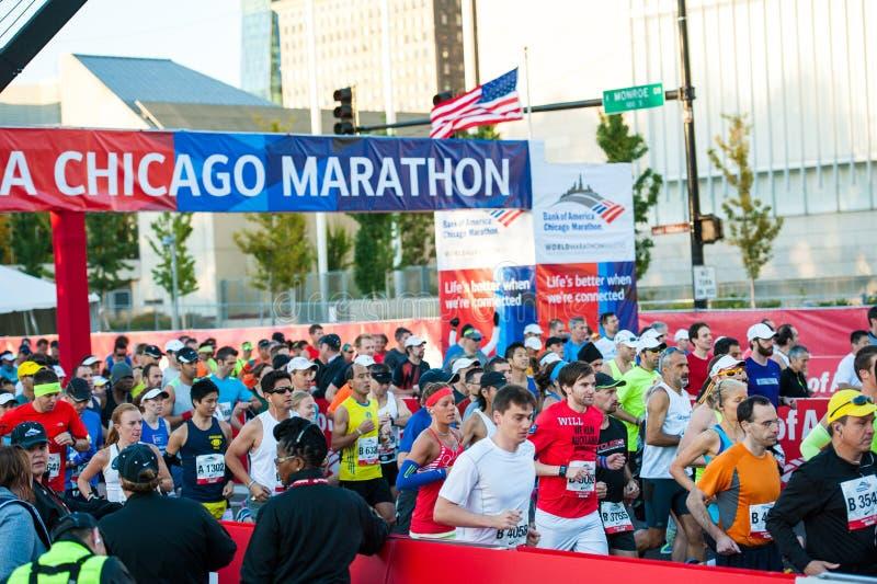Maratona 2013 di Chicago immagine stock libera da diritti