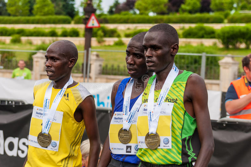 Maratona internacional 2015 de Bucareste meia imagens de stock royalty free