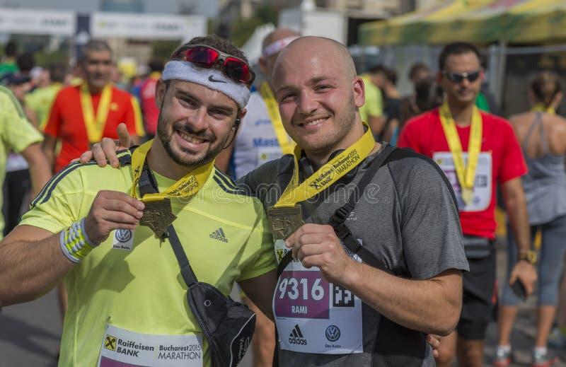 Maratona internazionale 2015 di Bucarest della Banca di Raiffeisen fotografia stock libera da diritti