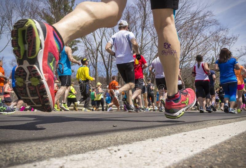 Maratona 2014 in Massachusetts, U.S.A. di Boston fotografie stock
