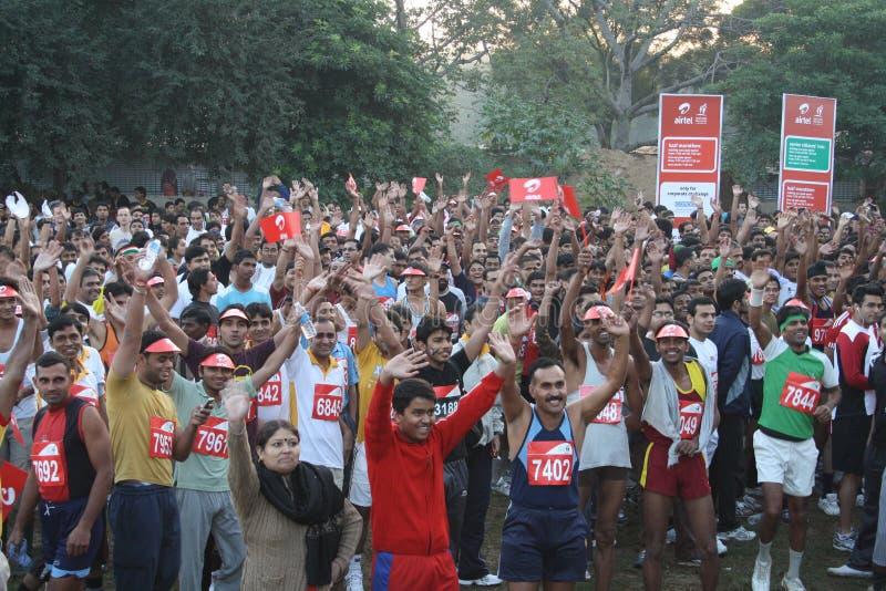 Maratona mezza 2010 di Delhi immagini stock