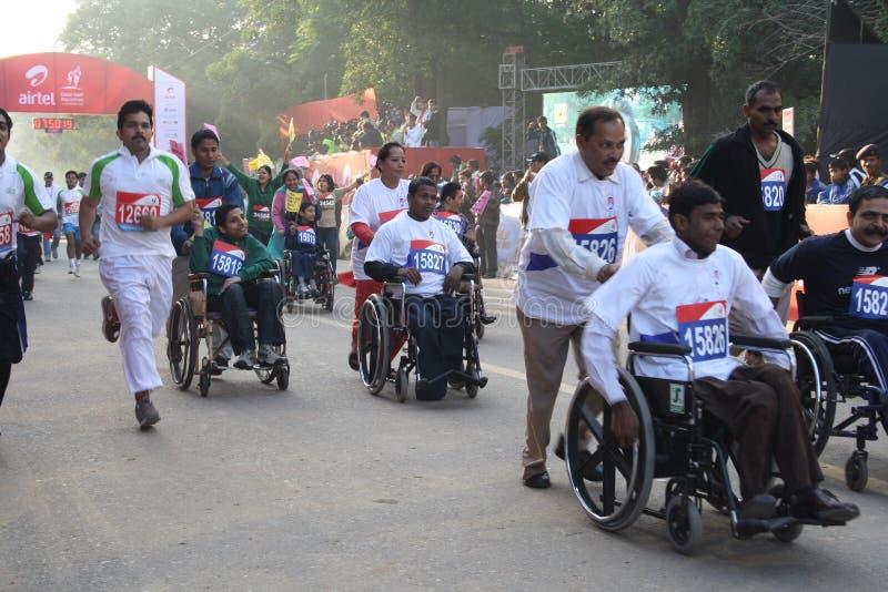 Maratona mezza 2010 di Delhi fotografie stock