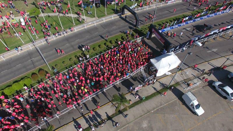 Maratona nella città di Tigre, Buenos Aires fotografia stock libera da diritti