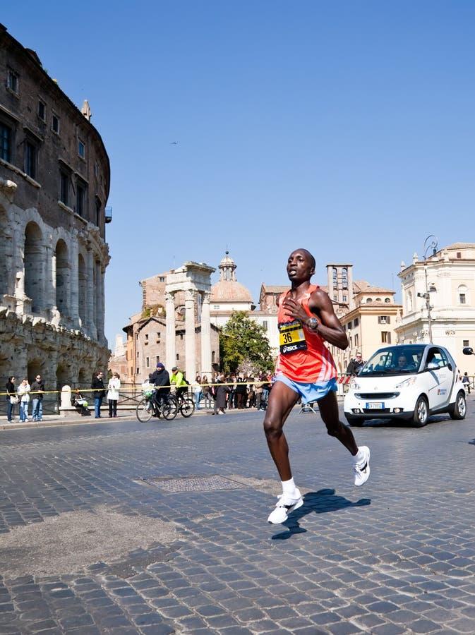 Maratona Roma immagini stock