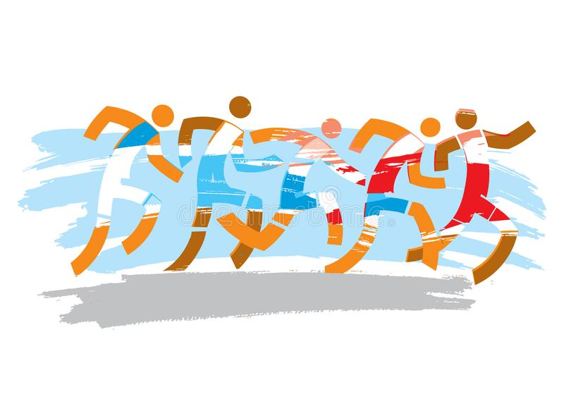 Maratona running da raça ilustração royalty free